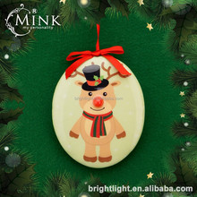 2016 design flat ball holiday/christmas decoration with LED