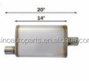 DIFFERENT TYPE SIZE STAINLESS ALUMINIZED CAR MUFFLER
