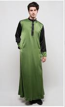 silk baju kurung wholesale 2015 design baju kurung kebaya in Black and green for Men