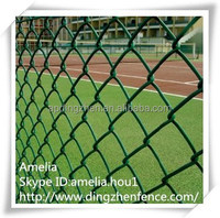 China Supplier Galvanized and PVC Coated Diamond Mesh Cylcone Chain Wire mesh / wrought iron fencing