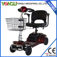 Intelligent double the 4 tires old-age scooter handicapped vehicle electric four wheel scooter