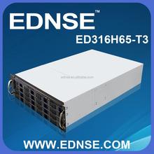 ED316H65-T3-B 3U EATX Rackmount PC Server Case with 16 Bay SATA/SAS Backplane