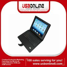 Wireless Bluetooth keyboard leather case for iPad 3 with hold stand