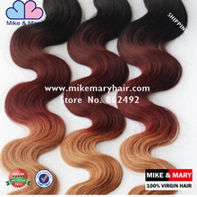 Mike and Mary Brazilian virgin hair Body Wave Ombre Hair Extensions
