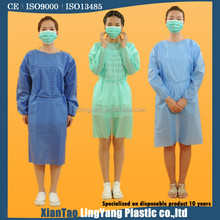 Colorful isolation surgical disposable medical gown for man working in hospital