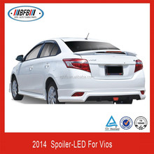Unpainted ABS Rear Trunk Spoiler W/LED For Toyota VIOS 2014