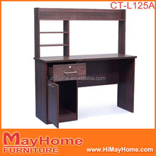Hot sale new item small wooden kids study desk with bookcase