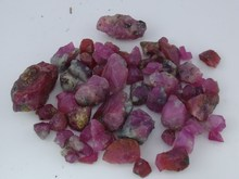 rough ruby gemstones