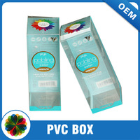 Hot stamping CMYK printing customize clear pvc packaging box
