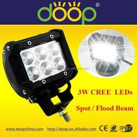 IP67 18W mini rigid jeep LED light bar, 4inch 1600lm off road LED light bar for wholesale