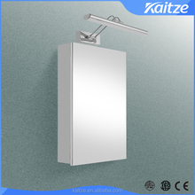 Hot selling OEM style Stainless steel mirror cabinet with LED right