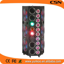 active stage speaker with colorful LED light,speakers audio,2.0 CH equalizer active stage speaker with usb