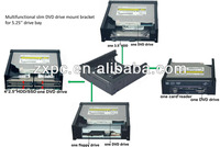 Multifunctional slim DVD drive combo card reader/ floppy drive/HDD/SSD mount bracket adapter
