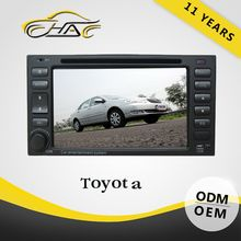 2 Din Multimedia With GPS Car DVD For Toyota Universal Built In Bluetooth With Backup Camera