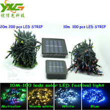 Outdoor 12m 100 LED string Solar LED Strip light String Fairy Lights Waterproof Garden lights for christmas Festival party