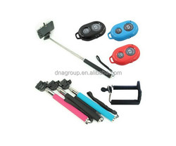 Smartphone Bluetooth Wireless Mobile Phone Monopod,selfie monopod with bluetooth shutter