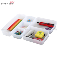 creative house high quality fancy plastic desk drawer parts storage set of 6