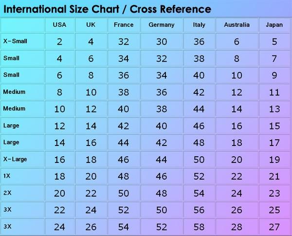 Imgenes De Chinese Pants Size Conversion Chart