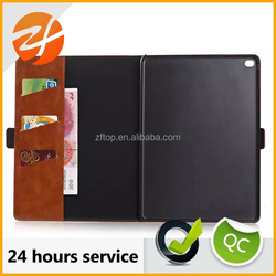 High quality stand pu leather case for ipad air 2, flip leather case for ipad air 2