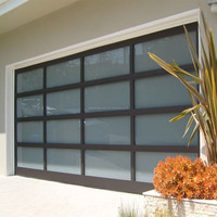 Aluminum and insulated glass garage doors polycarbonate or tempered glass