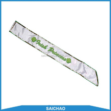 New Fashion Design Costume Satin Sash For Promotions