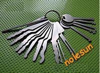 Original Auto Jigglers Try out Key for Cars and house door -16pc ,Used lock pick set for car open tools for key blanks wholesale