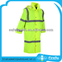 reflective waterproof windproof fluorescent jacket safety raincoat
