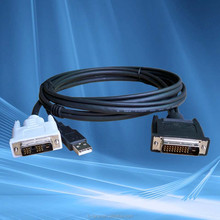 high quality metal shell gold plated black color vga dvi cable