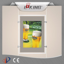 22 inch lcd display monitor double sides digital light box with cable hanging