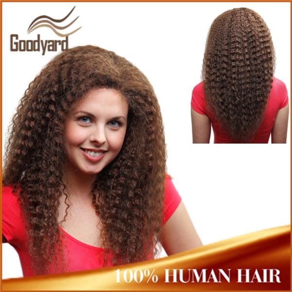 Shedding Free Brazilian Rapunzel Kinky Curly Full Lace Wig
