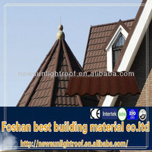 architectural tiles/colorful steel roof tile/light weight sun stone coated metal roof tile