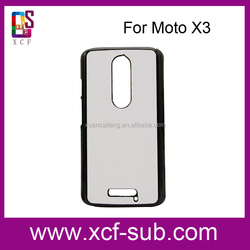 Heat Press Cell Phone Case for Moto X3, for Moto X3 Blank 2D Phone Cover