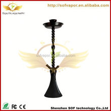 shisha-pen-free-sample hookah supplier black metal hookah atomizer wholesale exgo w3