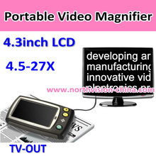 4.3 inches Handheld Portable LCD Digital Magnifiers, Zoom 4.5-27X, TV OUT, 7 Color Modes