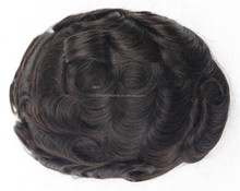 Human hair toupee natural hair pieces for top of head