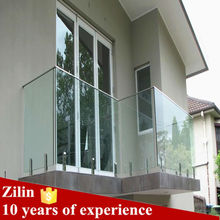 Stainless steel glass balcony railing designs free