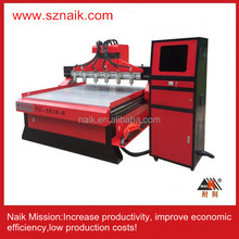 Multi-heads Mdf/ Door/ Wood Furniture Cnc Router/carving machine with discount /automatic 3D wood carving , 4STC-1618-6