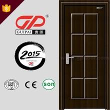 China supplier home used inner bedroom design pvc wooden interior door