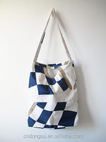 Stripes Canvas Tote Beach Bag Fashion Straw Summer Shoulder Beach Bag