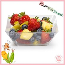 Clear Plant BioPlastic Creative Converting 4 Count Serving Square Bowls