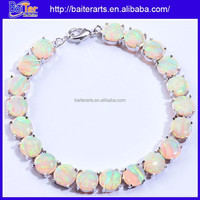 White Opal Stone 925 Sterling Silver Costume Jewelry Imported Bracelets China