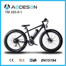 Trendy design and good quality fat tyre electric bike/bicycle, powerful sport ebike TM265-9-1 with lithium battery