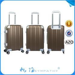 2015 Clear PC Luggage 28 Inch with Fashion Design 8- Wheels Travel Trolley Luggage