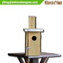 Tree Mounted Small Wooden Bird House,Outdoor Decorative Bird House