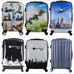 2015 printing PC ABS Trolley Luggage in guangzhou