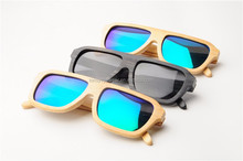 Color bamboo sunglasses, best mirror lens, Chinese moso bamboo
