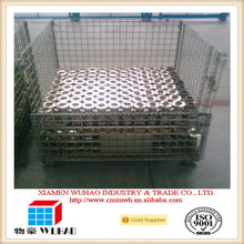 Evergreat Wuhao foldable storage basket stackable cargo cage metal foldable cage pallets