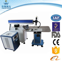 Vinyl welding machine used micro channel Ad metal letter laser welding machine