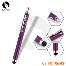 Shibell 2 in 1 push-button stylus ballpoint pen retractable capactive stylus pen