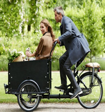 Denmark electric pedal assisted three wheel bicycle for cargo